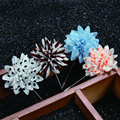 New fashion men brooch flower lapel pin 5cm suit boutonniere fabric yarn pin 12 colors button