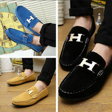 Hot Men's Casual Buckle Sneakers Breathable Moccasin Loafers Driving Shoes -A1(China (Mainland))