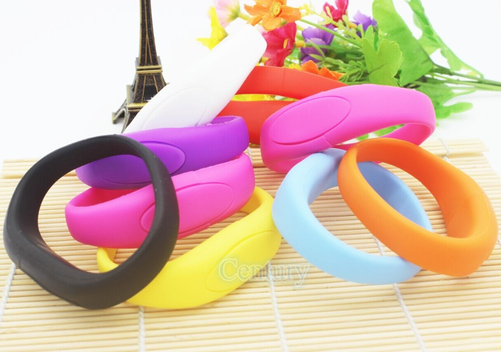 Hot Sale 8GB USB Flash Drive Silicone Bracelet Wrist Band USB2.0 Flash Memory Pen Drive Unique USB flash Drive U Disk Pendrives(China (Mainland))