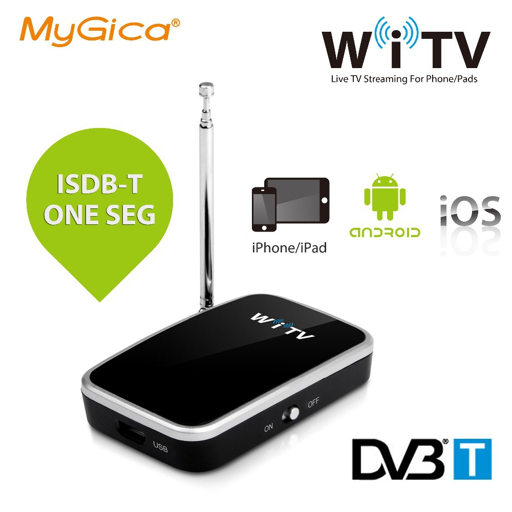 isdb-t dvb-t Geniatech Mygica WiTV watch tv for iPad iPhone/Android devices Wireless ISDB T one seg WiFi TV tuner receiver(China (Mainland))