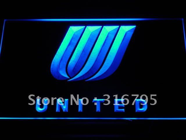 d034-b United Airlines LED Neon Sign with On/Off Switch 7 Colors to choose