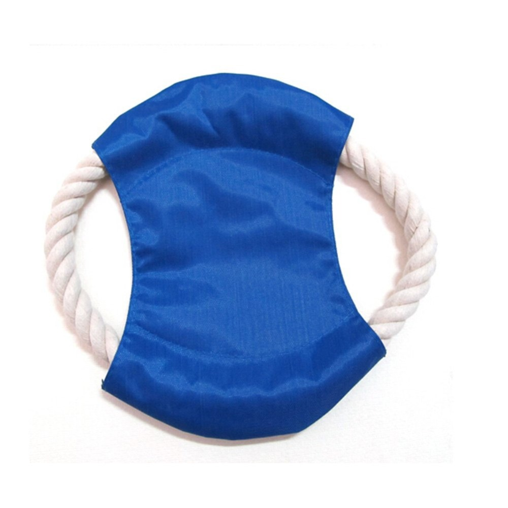 Pet Dog Frisbee Puppy Cat Chew Throw Rope Disc Fun Flyer Training Play Games Toy, Ideal Flying Dog Cat Toys (Random Color)(China (Mainland))