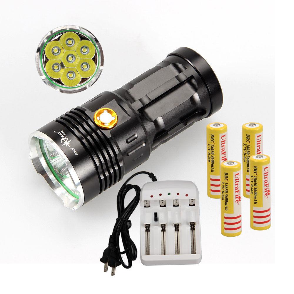 Здесь можно купить  Rechargeable SKYRAY 10000LM 7x CREE XM-L T6 LED Flashlight Torch Hunting 18650  Свет и освещение