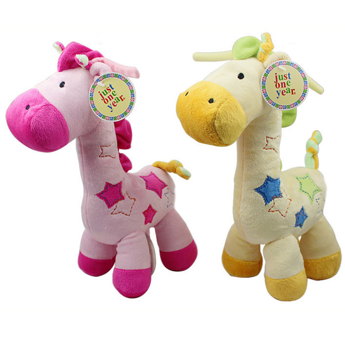 New 1pc Musical Baby Toy Super Soft Plush Baby Rattle Cute Giraffe Doll Early Educational(China (Mainland))