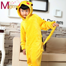 Children Kids Flannel Onesies Cute Cartoon Animal Pikachu Pajamas Cosplay Party Costume Pijamas Pyjamas Sleepwear For Gils Boys