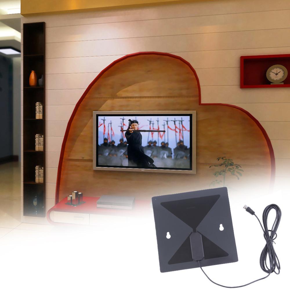 Hot Brand Thin Flat Signal Amplified HDTV Digital Indoor Antenna UHF VHF Analog Wholesale(China (Mainland))