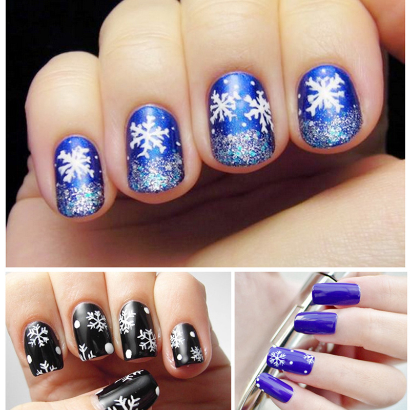 5pcs/Lot Snowflakes Snowman 3D Nail Art Stickers Decals Decals Manicure Decoration Fashion Girl Fingernail Accessories Nalis007(China (Mainland))
