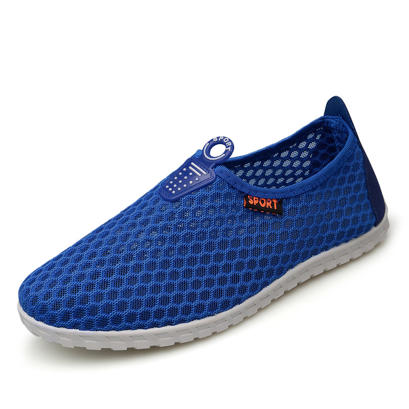 2016 summer men's casual shoes breathable mesh shoes slip-on outdoor comfortable flat footwear