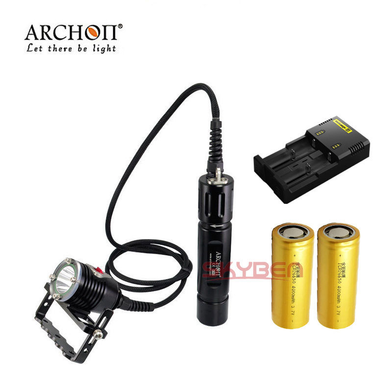 Archon DH26 Cree XM-L U3 Canister Scuba Diving LED Hand Light + Battery&Charger(China (Mainland))