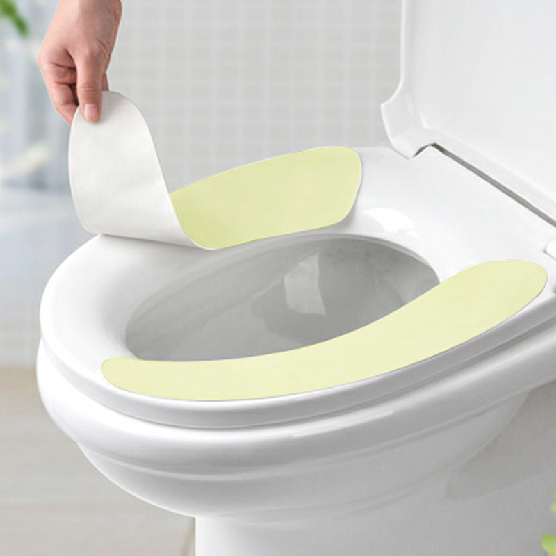 FaSoLa Bathroom Paste-type Solid Color Toilet Seat Mat Pad Self-adhesiv Washable Reusable Healthy Comfort Toilet Cover Stickers(China (Mainland))