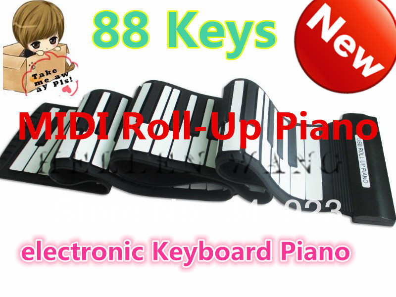 88 Keys 128 Tone Demonstration Songs Electronic Piano Keyboard Midi Soft Roll Up Portable Flexible Music Keyboard Children's Day(China (Mainland))