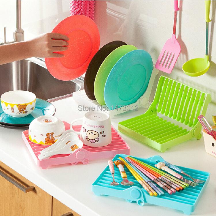 Kitchen Shelf Arrangement: Utensilios De Cozinha For Kitchen Foldable Plate