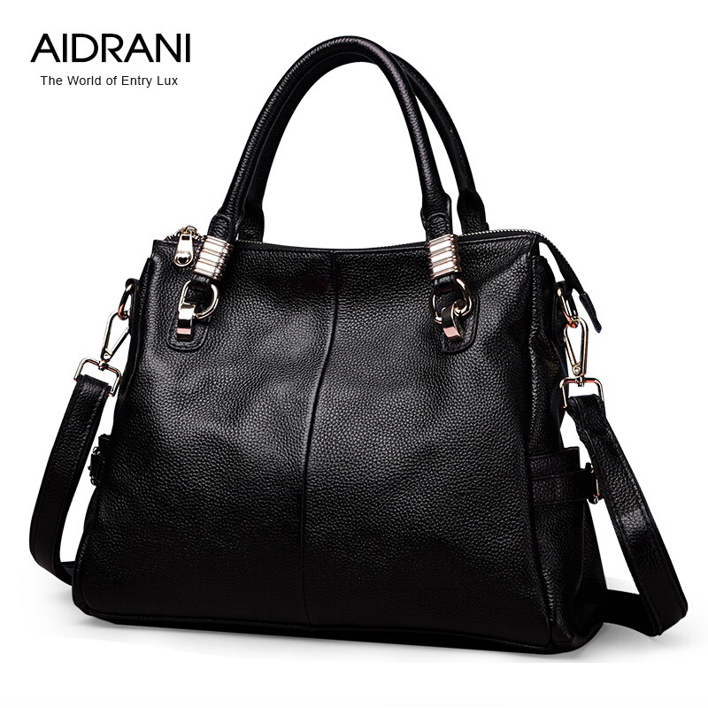 Фотография Aidrani Fashion Brand Women Handbags Genuine Leather Bag Popular Shoulder Bag Cowhide Leather Women Totes Messenger Bags