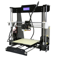 Latest High Quality Big  220*220*235mm  Precision Reprap Prusa i3 DIY 3d Printer kit with 2 Rolls Filaments 8GB SD Card For Free