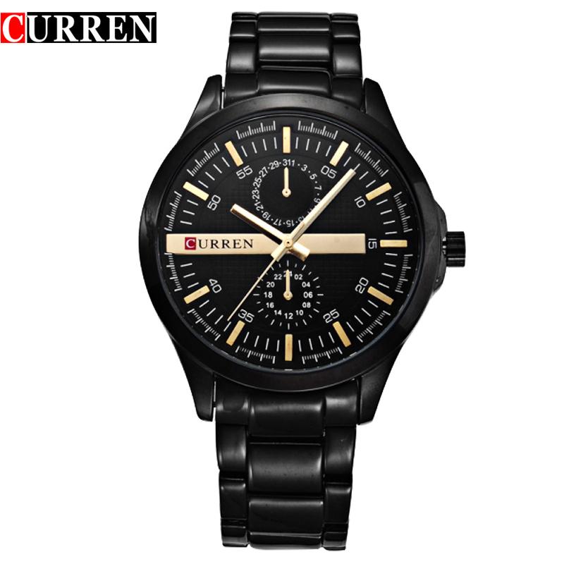 Men original current brand waterproof full steel calendar display luxury clock curren 8128 wrist quartz watch<br><br>Aliexpress