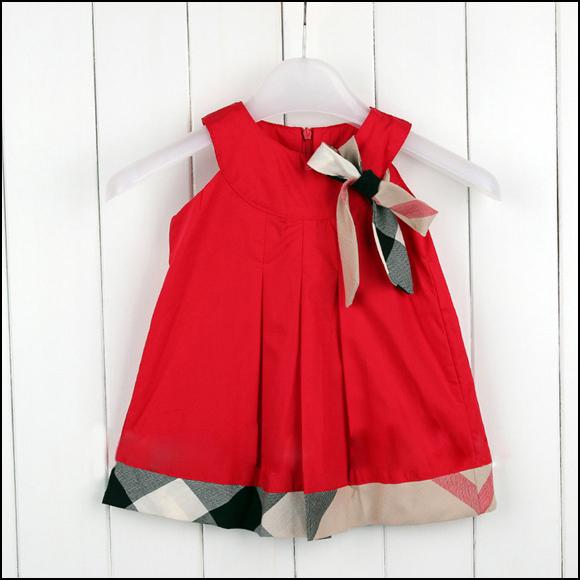 Drop ship brand bebe girls summer dress classical sleeveless baby girls dresses, plaid princess dress children clothes vestidos(China (Mainland))