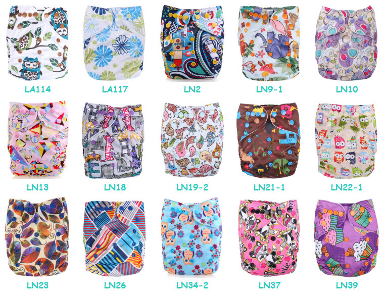 waterproof one size PUL baby pocket cloth diaper wholesale cover reusable sleepy diapers  double row snap suede cloth inner