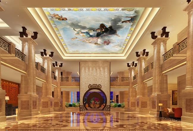 3d stereoscopic wallpaper angel painting zenith home for Wallpaper home improvement