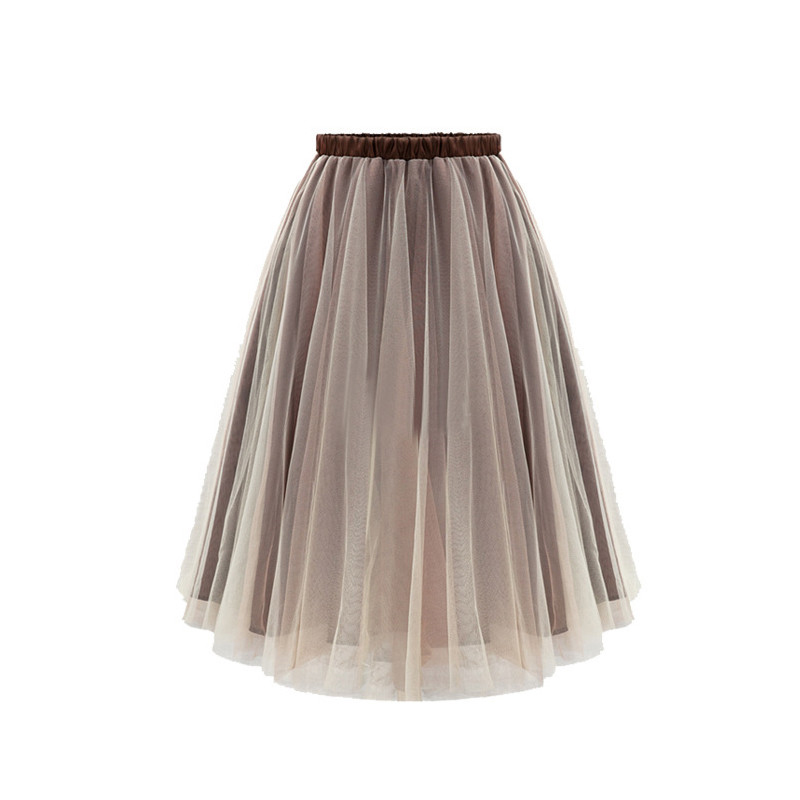 new 2016 summer skirts women hollow out ball gown solid voile short knee length European and