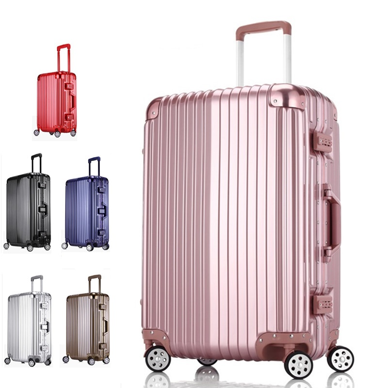 "20""24""26""29"" PC+Aluminum frame TSA lock Multiwheel Hardside spinner groove design Cabin medium extended Luggage(China (Mainland))"