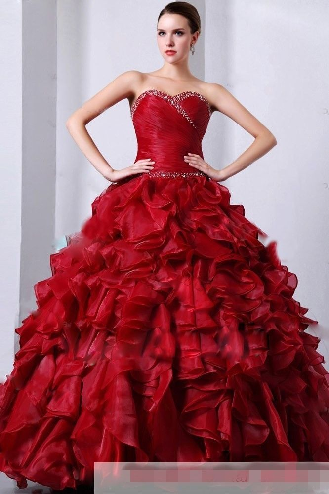T tahari red dress quinceanera