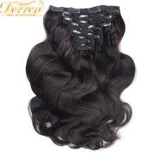 Buy Doreen 16-28Inch 200G Thicker Full Head Clip Human Hair Extenstions Body Wavy Malaysia Remy Hair 100% Human Hair Clip ins for $49.70 in AliExpress store