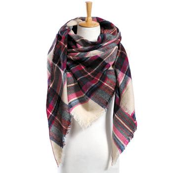 Top quality Winter Scarf Plaid Scarf Designer Unisex Acrylic Basic Shawls Women's Scarves hot sale VS051