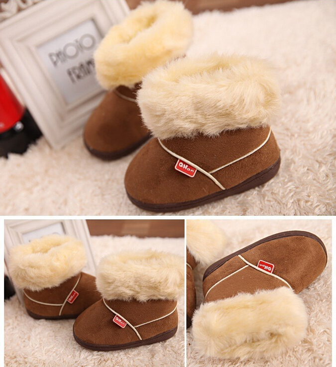 Autumn Winter boots 2014 New 1 Pairs/lot Children's snow warm thicken plush baby infant shoes girls boys cotton - prettygirl Love's store