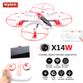 Syma X14W Drones With Camera HD WIFI Quadrocopter Brake Trace Mode FPV Quadcopter RC Helicopter Dron