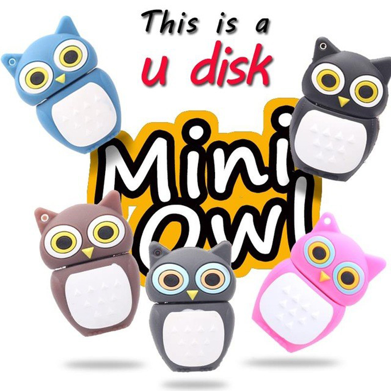 usb flash drive new hot owl pen drive plastic owl 32gb usb flash drive, flash memory stickgift 64gb pendrive(China (Mainland))