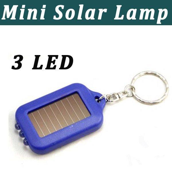Mini Solar lamp solar flashlight with 3 LED light Free Shipping(1101002)