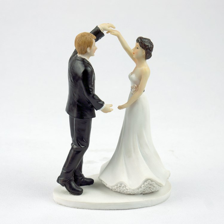 2015 New Sale Romantic Wedding Cake Topper Resin Wedding Cake Accessories Decoration+Free Shipping(China (Mainland))