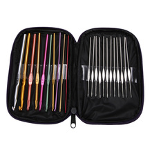 High Quality 22Pcs Set Multi-colour Aluminum Crochet Hooks Needles Knit Weave Craft Yarn Stitches DIY Crafts(China (Mainland))