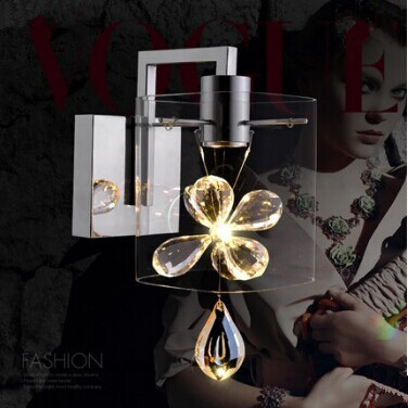 Фотография 3W Contemporary Clear Glass Led  Wall lamp Light with 1 Light in Candle Feature,Bulb Included,Wall sconces