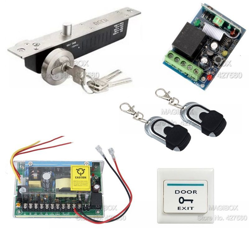 ACSS22 Remote Control Door Access Control System Kit +Electric Bolt Lock +Power Supply(China (Mainland))