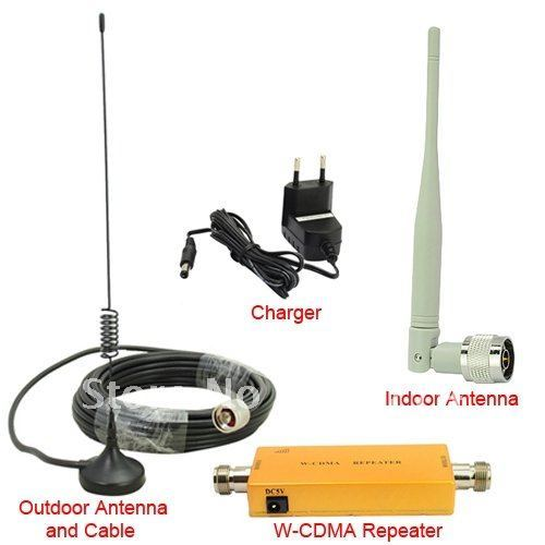 New!! Up to 500 Square Meter WCDMA 2100MHz 3G RF Repater Mobile Phone Signal Booster Amplifer/ Indoor antenna Kits/ Booster host