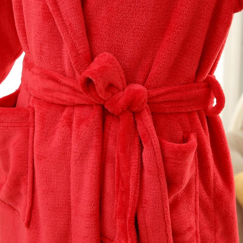Unisex Mens Women\`s Long Polyester Sleep Lounge Robes RBS-C LYQ114 24