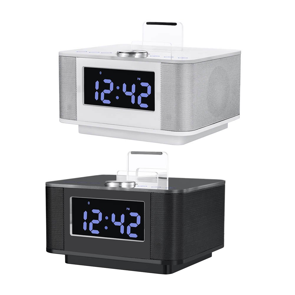 H7 Dual USB Speaker Docking Station Bluetooth V2.1+EDR Alarm Clock Dock with radio for Android For iPhone for iPad(China (Mainland))