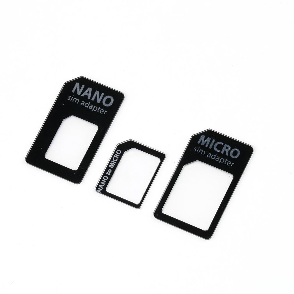3 in 1 Nano SIM to Micro Standard SIM MICROSIM Adaptor Adapter for iPhone 5(China (Mainland))