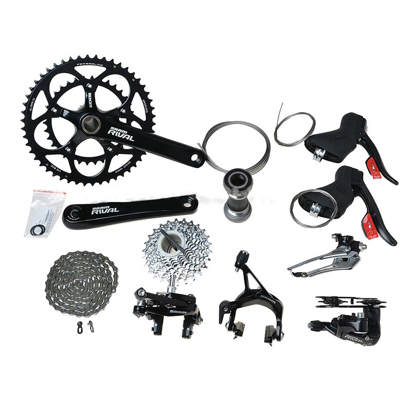 SRAM RIVAL Road Bike Groupset Outdoor Sports Cycling Group Set Build Kit 10 Speed 170mm Bicycle Parts Black(China (Mainland))