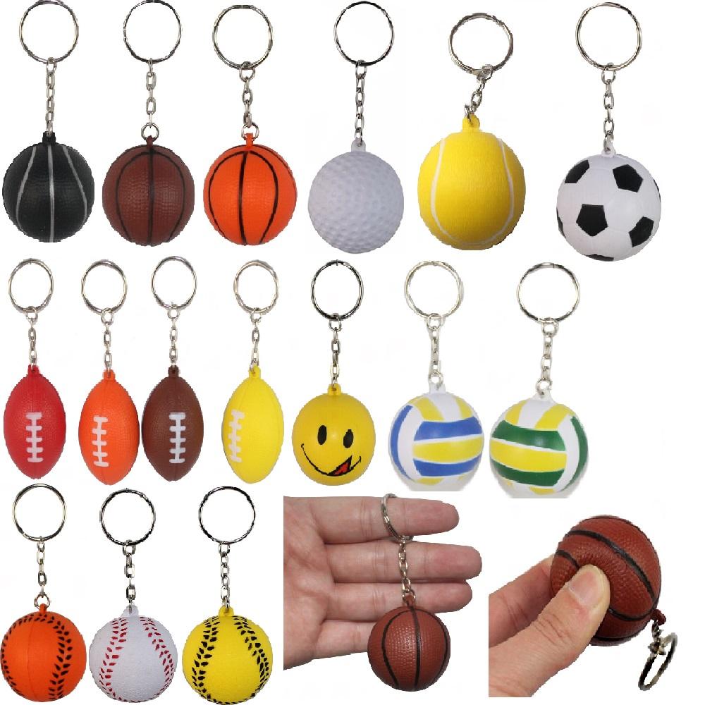Soft Ball 4cm Basketball Volleyball Football Golf Rugby Tennis Foam Keychains Key Chain Key Ring Charm Pendant Plastic Crafts(China (Mainland))