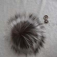Big Genuine Real Silver Fox Fur Pompom Fur Pom Poms Ball for Hats & Caps Accessories Natural Fur Pompon Ball For Shoes Hats Bags(China (Mainland))