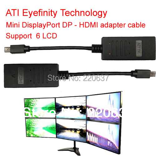 ATI Eyefinity Active Mini DisplayPort HDMI cable DP adapter support 6 LCD - MooKoo Electronic Technology Co., Ltd. store