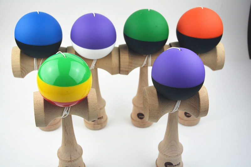MOQ 60 piece two colors rubber Paint jumbo Kendama Ball Japanese Traditional Toy Balls size: 25CM*8cm Free shipping(China (Mainland))