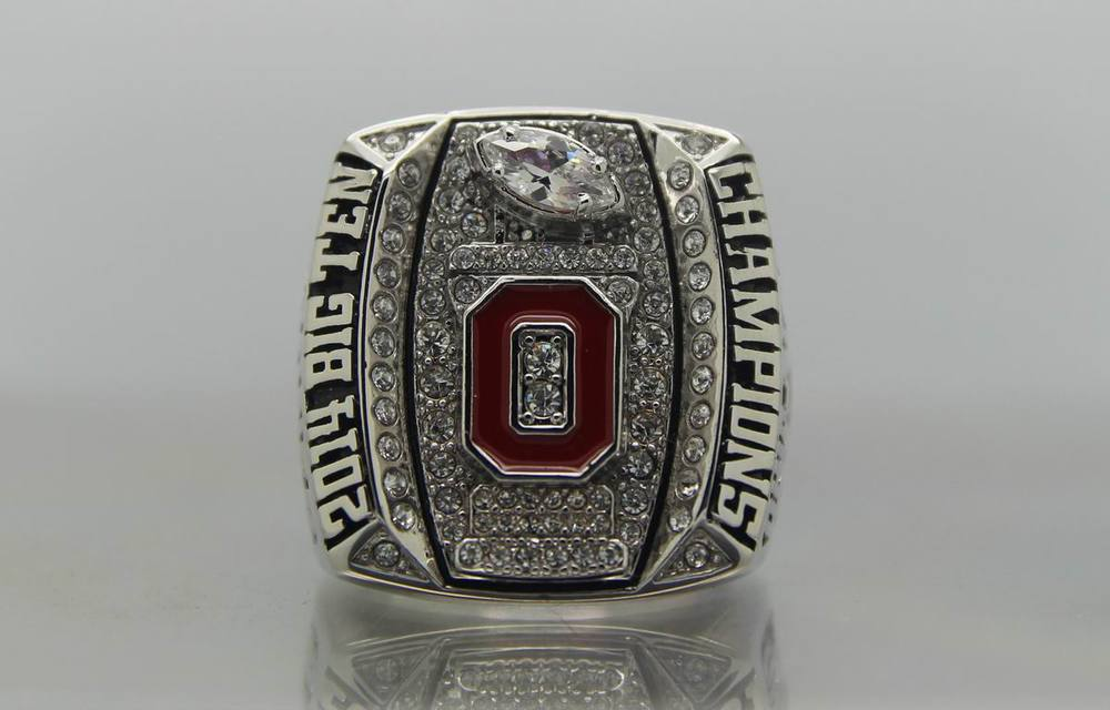 New 2014 Ohio State Buckeyes National Champion C.Jones Replica Championship Rings US Size 9 10 11 12 13 with jewelry case(China (Mainland))