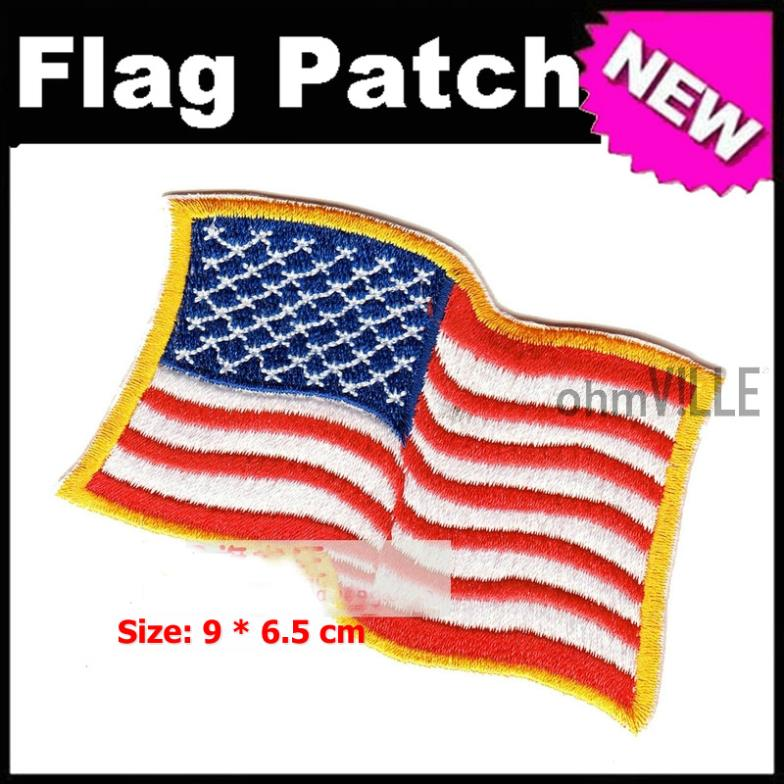 Usa flag patch iron on patches quality guarantee