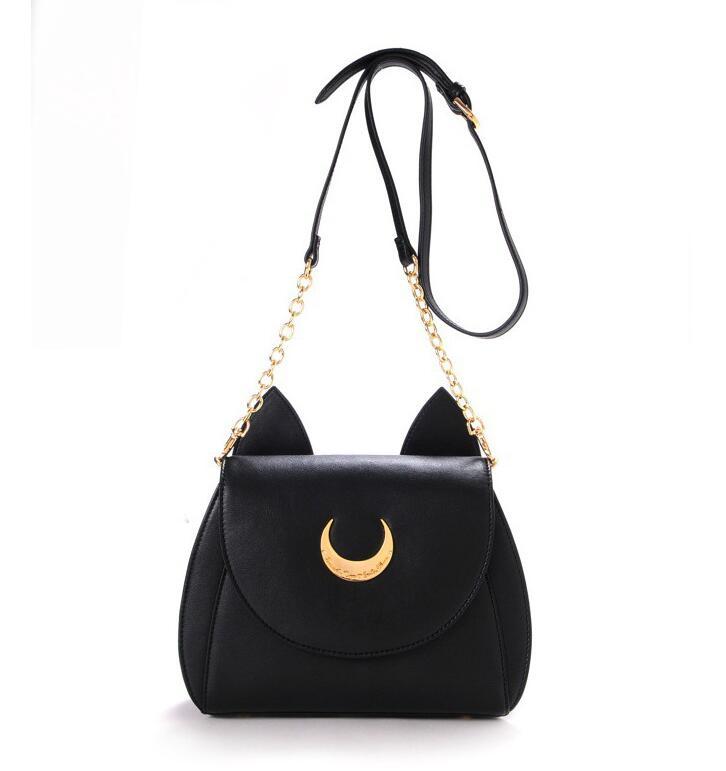 Sailor Moon Limited Sale Women bag 2016 summer new fashion chain shoulder bag quality PU Leather Handbag Shoulder Messenger Bag(China (Mainland))