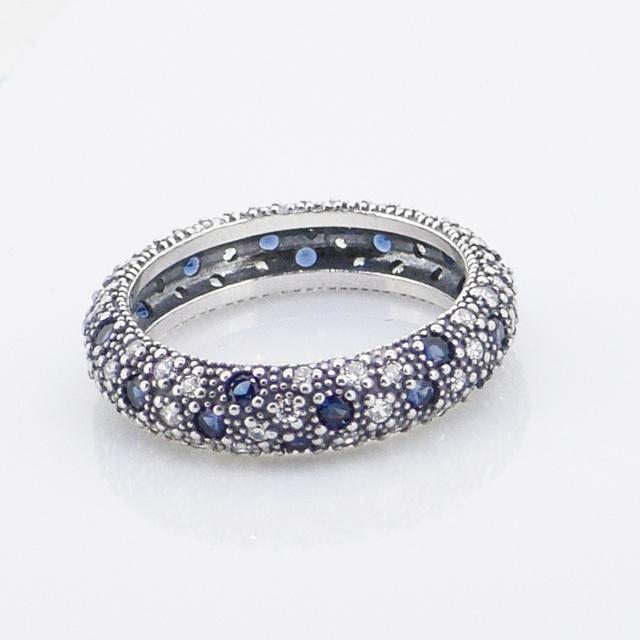 Чистый 925-Sterling-Silver женщин CZ камни кольцо для женщин DIY мода ювелирных аксессуаров 2015 европейский модный бренд стиль кольцо