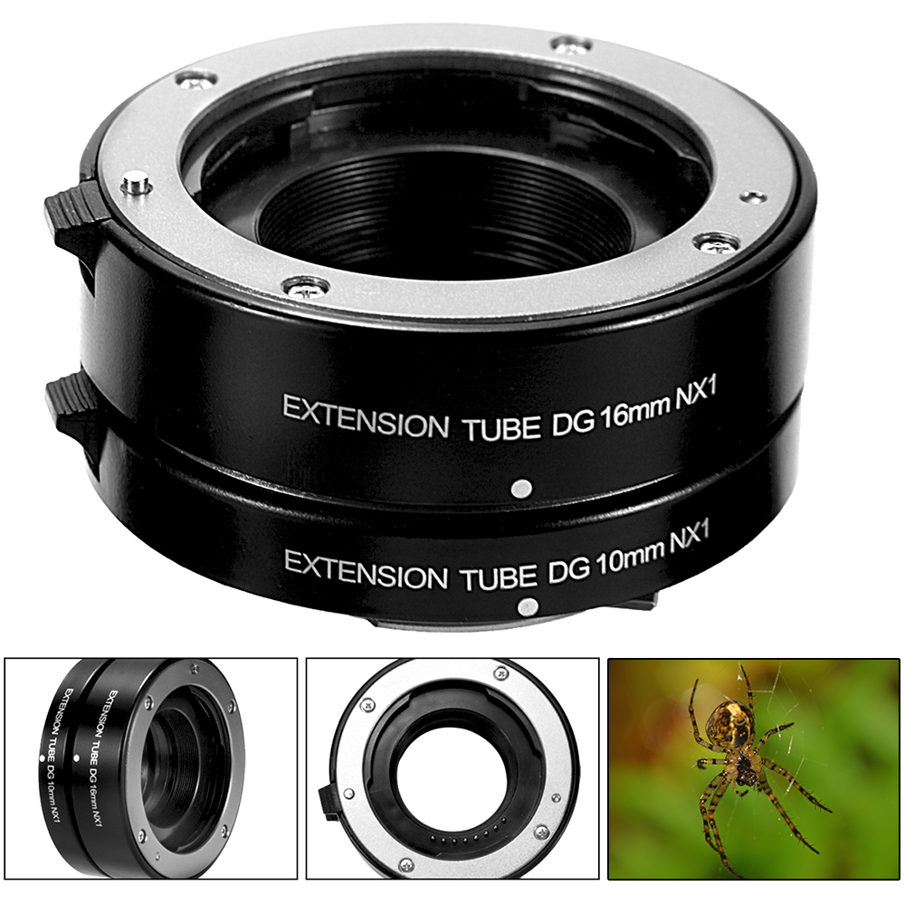 Macro Auto Focus Extension Tube 10mm 16mm AF Set DG Mount for Samsung NX DC683(China (Mainland))