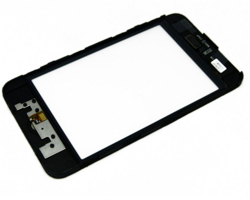 cheap original for iPod touch 3 Gen digitizer touch screen glass assembly+return key free shipping-Black